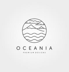 Mountain island logo symbol design vector