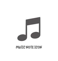 music note icon simple flat style vector image