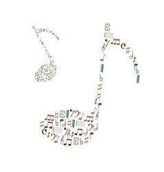 music note icons set like big music note eps10 vector image