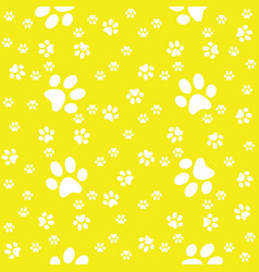 Paws yellow pattern paw background vector