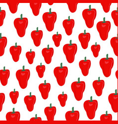 pepper vegetables seamless pattern on white vector image