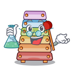 professor toy xylophone on cartoon childrens vector image