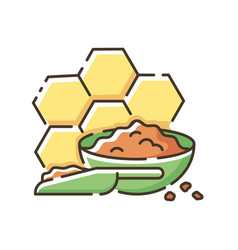 Propolis rgb color icon vector