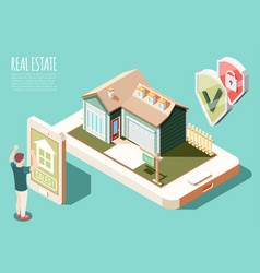 real estate augmented reality background vector image