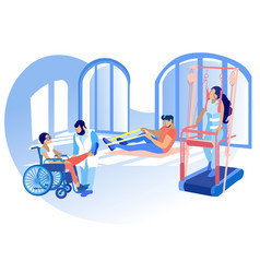 Rehabilitation disabled physiotherapy vector