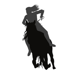 Riding a running horse vector