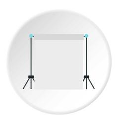 Screen icon circle vector