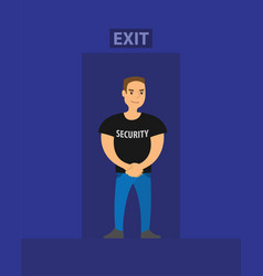 Security on exit night club safety vector