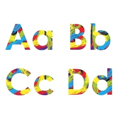 set of colorful alphabets on abstract background vector image