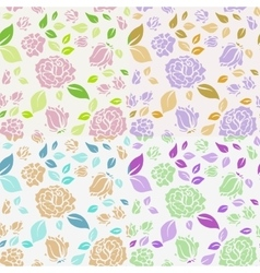 Shabchic rose pattern and seamless background vector