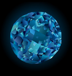 Shiny faceted topaz vector