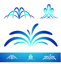 simple fontain set vector image