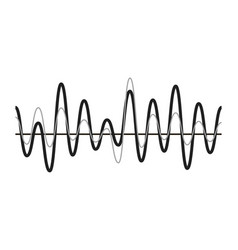 sound wave icon sound music digital audio vector image