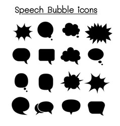Speech bubble icon set vector