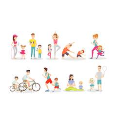 sport activity flat set vector image
