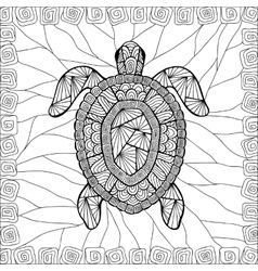 Stylized turtle style entangle vector