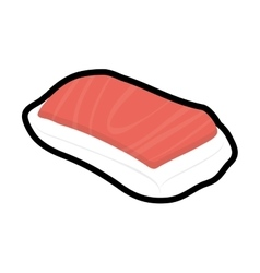 Sushi icon Japan culture graphic vector
