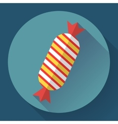 Sweet xmas candy icon Flat designed style vector image vector image