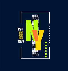 t shirt design nyc typography vector image