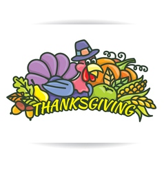 Thanksgiving logo vector
