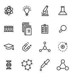 thin line icons - science vector image