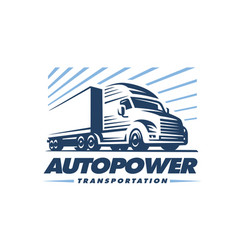 truck logo on white background vector image
