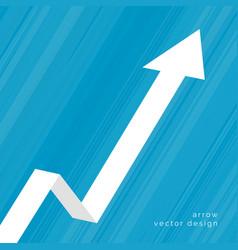 upward moving arrow business background vector image