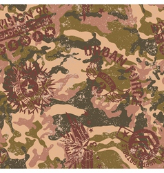 Urban camouflage with military badges vector image