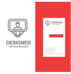 User profile id login grey logo design and vector