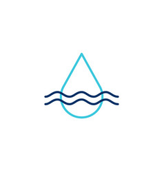 water drop logo icon line outline monoline vector image