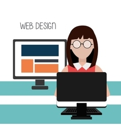 Web development design vector