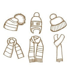 Winter clothes Santa stocking cap vector image