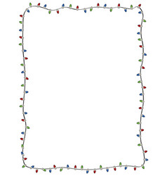 winter holiday christmas light string border vector image
