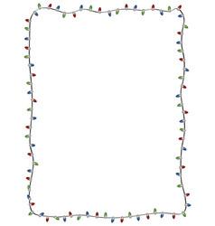 winter holiday christmas light string border vector image
