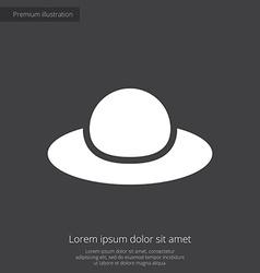 woman hat premium icon white on dark background vector image