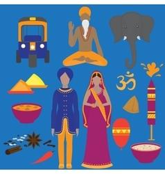 India symbols set Hinduism design elements South vector image vector image