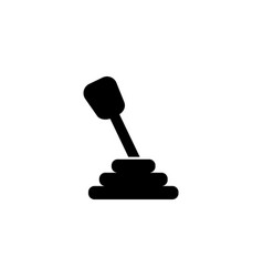 manual transmission icon vector image