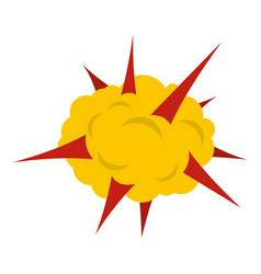 power explosion icon isolated vector image vector image