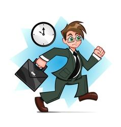 running businessman vector image vector image