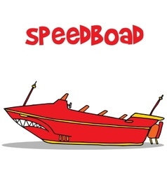 Speedboat of art vector image