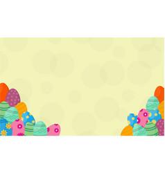 Background of easter egg vector