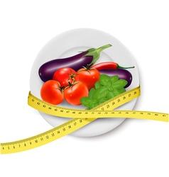 Diet meal Vegetables vector image