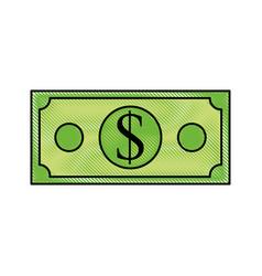 dollar banknote money cash economy financial vector image vector image