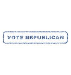 vote republican textile stamp vector image