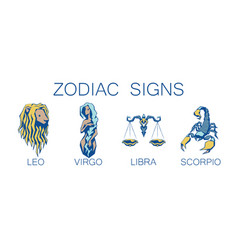 collection of zodiac signs of vector image vector image