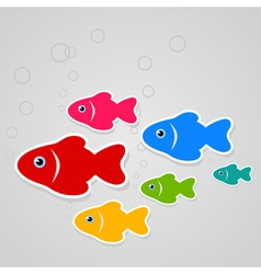 Flight of fishes3 vector image vector image