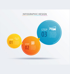 infographics circle number 3 step template vector image vector image