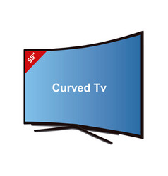smart tv curved-55 inches vector image vector image