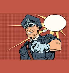 vintage police officer cop arrests vector image vector image