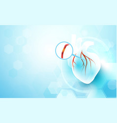 abstract geometric with medicine and science vector image